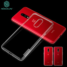For OnePlus 7 Case Cover NILLKIN Ultra Thin Transparent Nature TPU Case For OnePlus 7 Clear TPU Soft Back Cover [hk stock] soft case tpu transparent back cover for oneplus 3