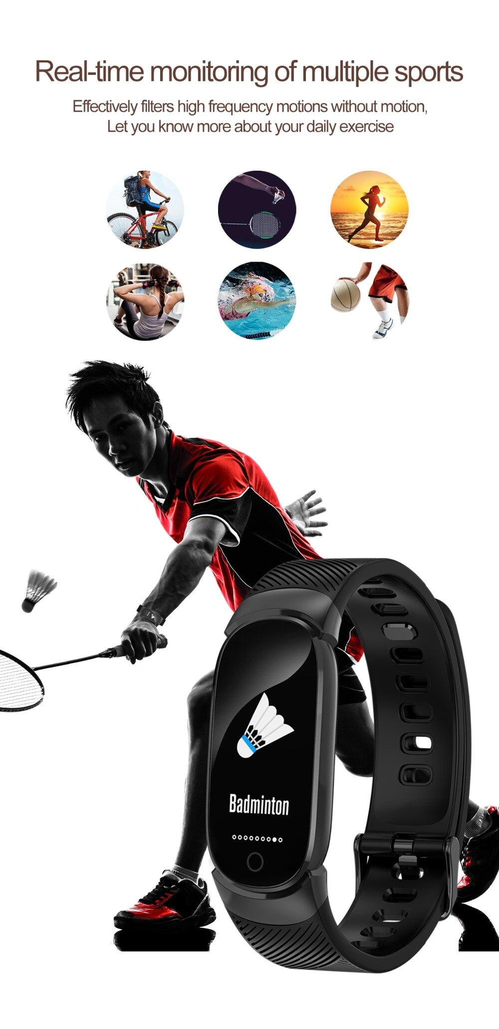 QW16 Waterproof Smart Bracelet Smart Band IP67 Heart Rate Fitness Tracker Blood Pressure smart watch