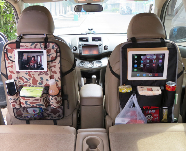 High Quality Car Seat Multifunctional Nappy Bag Backpack Hanging Vehicle IPad Storage Mommy