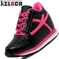 Keloch Nuevas Mujeres Primavera Otoño Con Cordones de Cuero de LA PU Aumenta Los Zapatos de Las Mujeres Zapatos casuales de Las Señoras de Impresión Zapatos de Un Solo