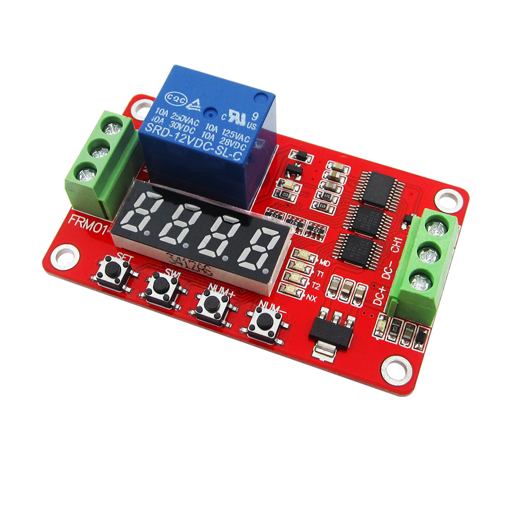 1pcs FRM01 12V 1 Channel Multifunction Relay Module Loop Delay / Timer Switch / Self-Locking new original dc 12v relay multifunction self lock relay plc cycle timer module delay time switch