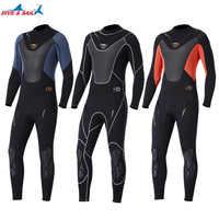 -El cuerpo de los hombres de neopreno de 3mm de neopreno surf nadar traje de buceo de triatlón traje para agua fría de buceo snorkel pesca submarina