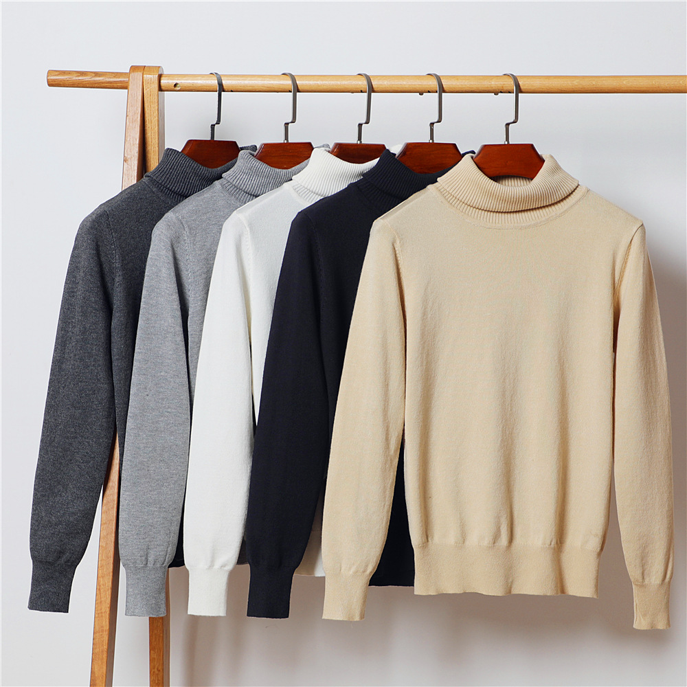 Gkfnmt Turtleneck Sweater Clothing Pullovers Jumper Good-Quality Long-Sleeve Winter Knitted