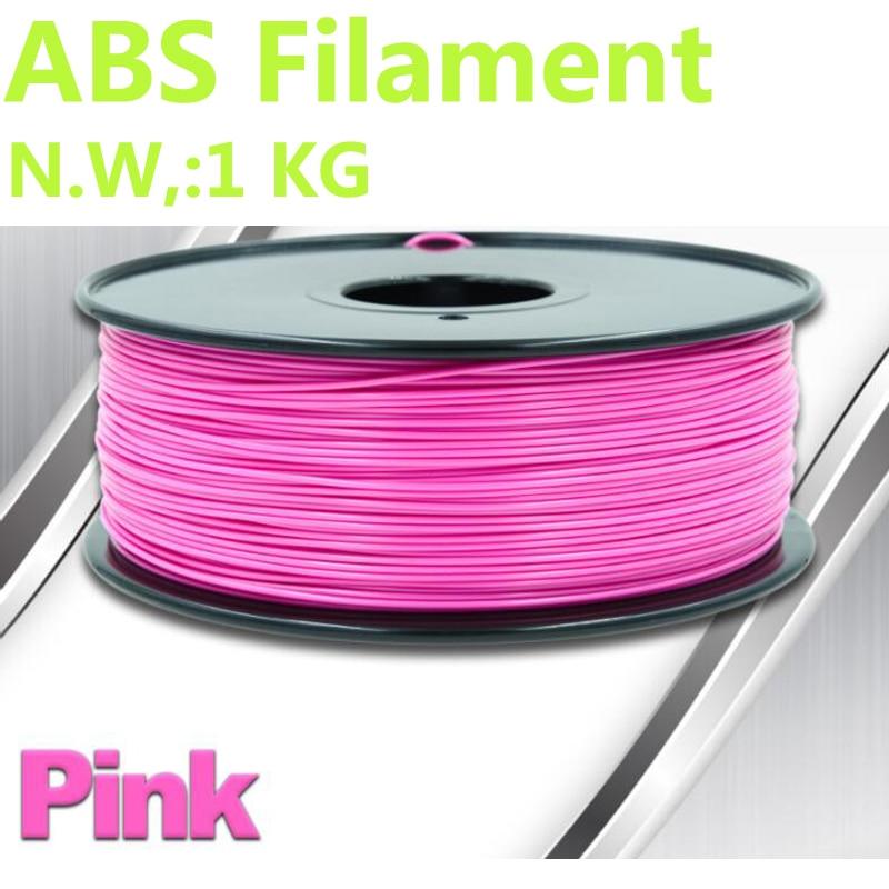 Pink color abs 1.75 mm filamento impressora 3d plastic filament PinRui Brand 3d pen plastic filament abs 375m filament 1kg abs abs filament 1 75 in yellow color 1kg