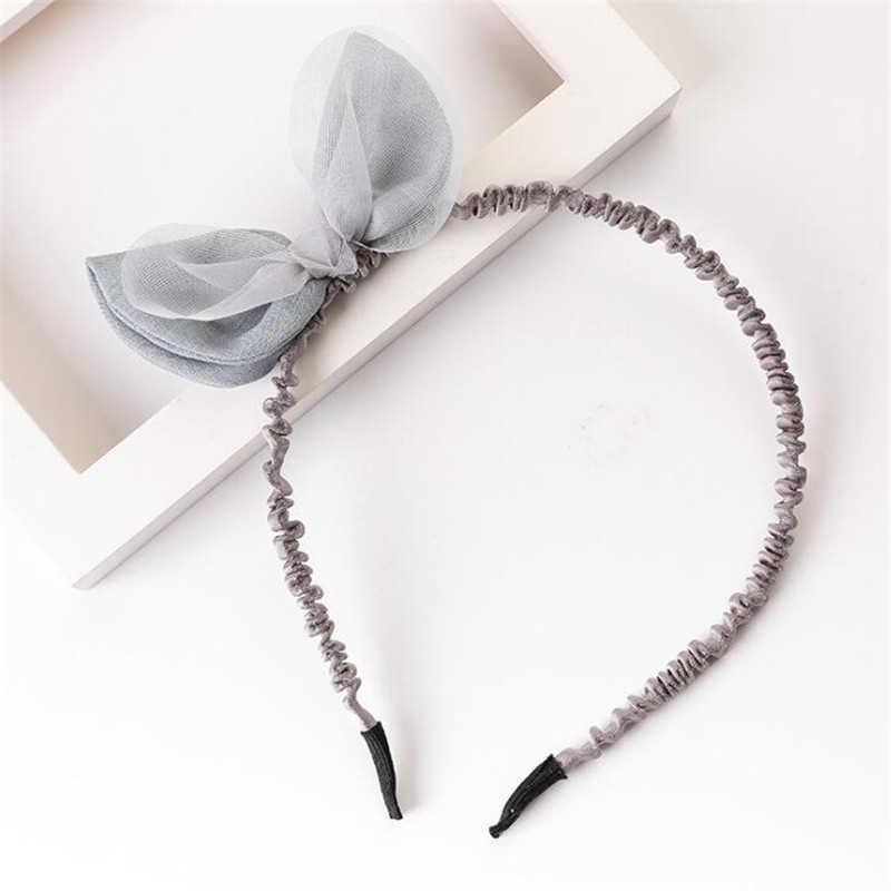 Новое поступление, кружевные банты для девочек, повязка на голову в Корейском стиле, аксессуары для волос, милая тиара, головной убор на день рождения, Прямая поставка