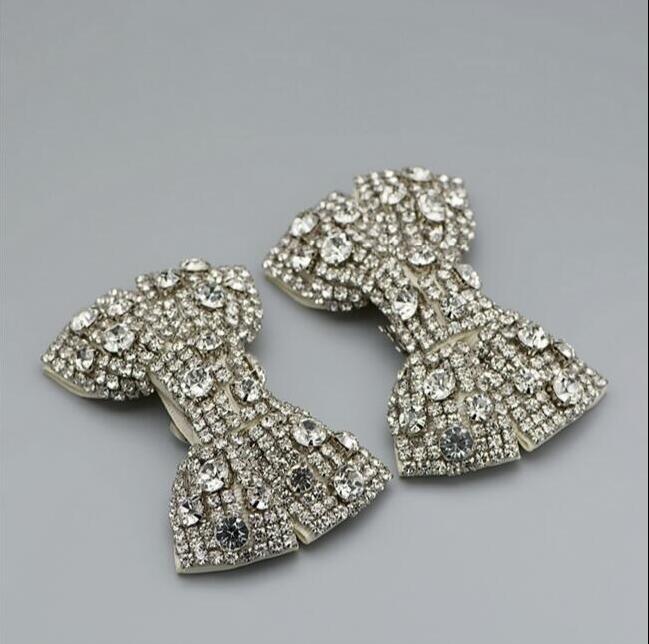 1 Para Von High-end-schuhe Zubehör Glanz Kristall Diamant Luxus Schwere Bögen Schuhe Abnehmbare Schuh Clip Schnalle C-20