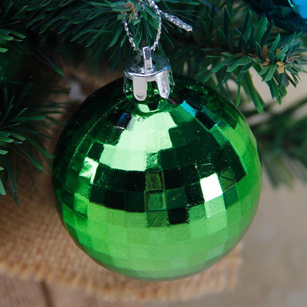 6pcs Set Christmas Balls Mirror Ball Christmas Tree Hanging Ornaments Multi Color Xmas Balls Festival Home Decor Dia 6cm In Ball Ornaments From Home