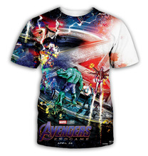 Plstar Cosmos Avengers Alliance 4 t-shirt Quantum wardrobe final battle 3d Marvel mens casual short sleeves