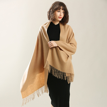 BOHOBOCO new brand fashion winter autumn women solid color thick warm lamb wool infinity shawl blanket