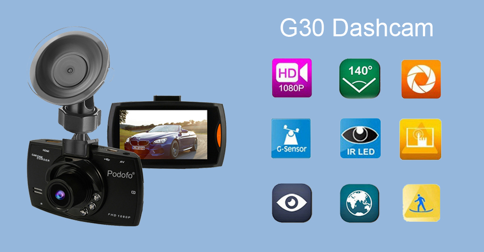 A2 Car G30 Full HD 1080P 140 Degree DVR Camera Dashcam