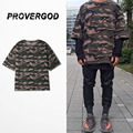 Wholesale New Mens Camo Kanye T Shirt Hip Hop Strret Short Sleeve O Neck Cotton Camouflage T Shirt Oversize Street Cool Clothes