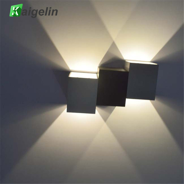 Kaigelin Innovative 6w Led Up And Down Lighting Wall Lamp Indoor Decorative Stair Light Ac 85 265v Warm White Nature