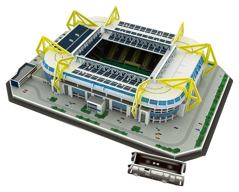 Classic Jigsaw Models Germany Signal Iduna Park Borussia Dortmund RU Football Game Stadiums DIY Brick Toys Scale Sets Paper цены онлайн