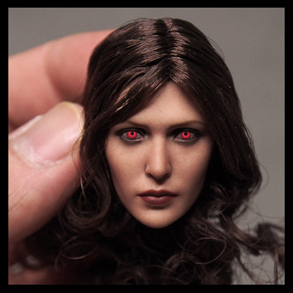 1/6 Elizabeth Olsen Sexy Female Red Eyes Head Sculpt for 12 Action Figure Body doll Toys soldier head Soldier model toy 1 6 popular km 38 female head sculpt model with black hair for 12 female action figure body doll toys