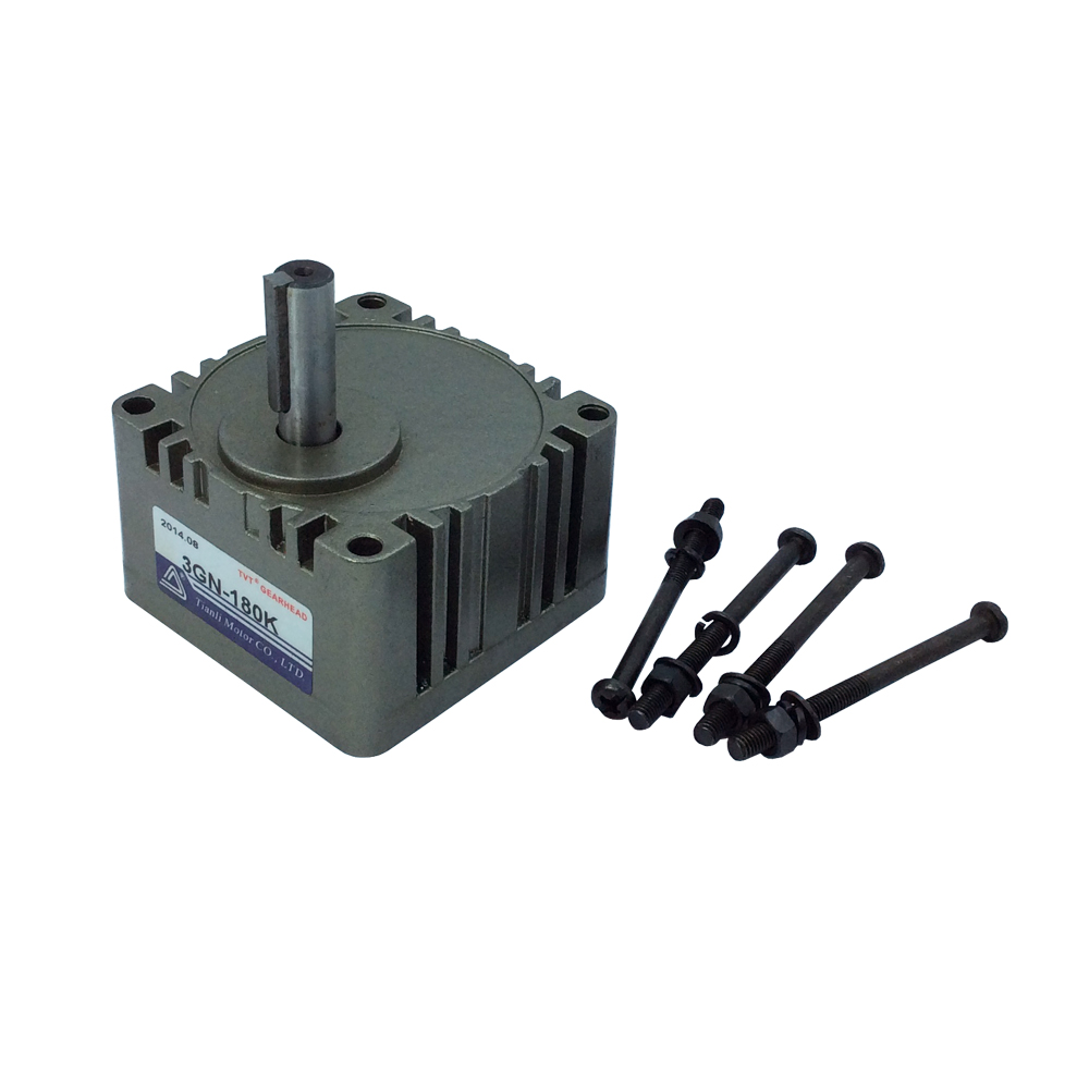 Gear Head 3GN with 10mm Out Shaft DC/AC Motor Ratio 1:180/150/120/100/90/75/60/50/40/36/30/25/20/18/15/12.5/10/7.5/5/3 60w ac reversible motor 5rk60gu cf with gear ratio 90 1 output speed is 15 r m gear head 5rgu 90k