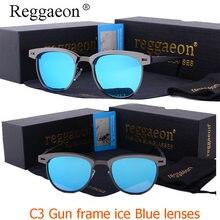 reggaeon New Round Aluminum magnesium Sunglasses Polarized Men Driving Glasses T