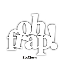 Oh Frap Enhlish Words Metal Cutting Dies DIY Scrapbooking Embossing Paper Cards Making Crafts Supplies New 2019 Diecut