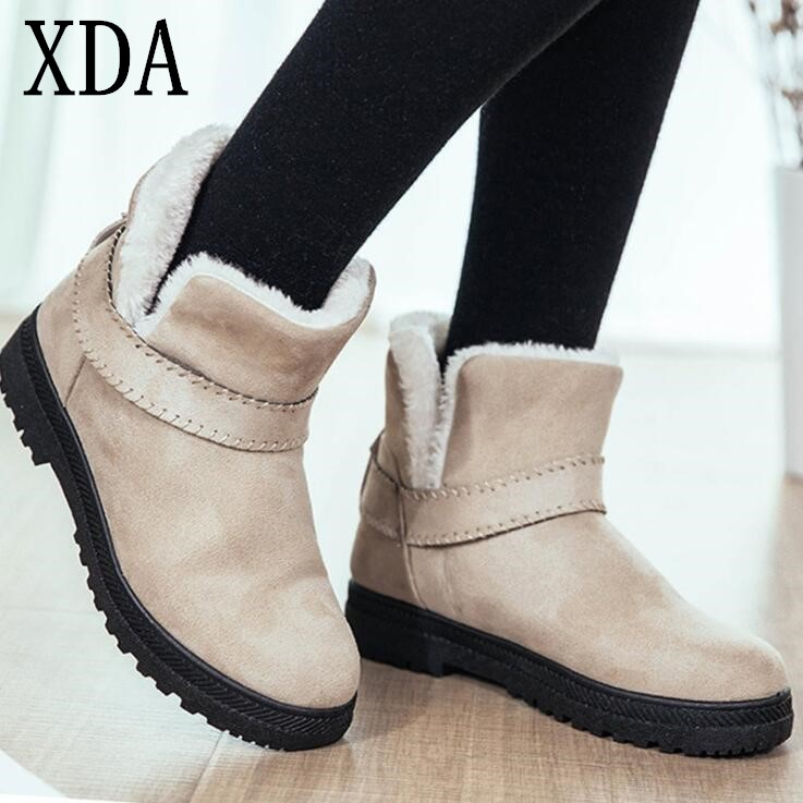 XDA Big Size 43 Fashion Warm Snow Boots Winter Boots 2019