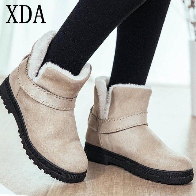 Xda Big Size 43 Fashion Warm Snow Boots Winter Boots 2019 New Women