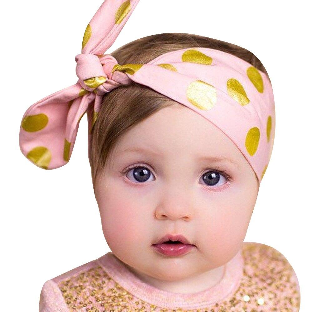 1 Piece MAYA STEPAN Children Girls Rabbit Ears Dot Hair Head Band Bow Knot Accessories Baby Newborn Headband Headwear Headwrap