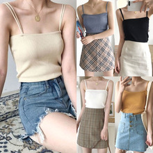 Women's Knitted Sleeveless Tank Top Vest Sexy Solid Color Ba