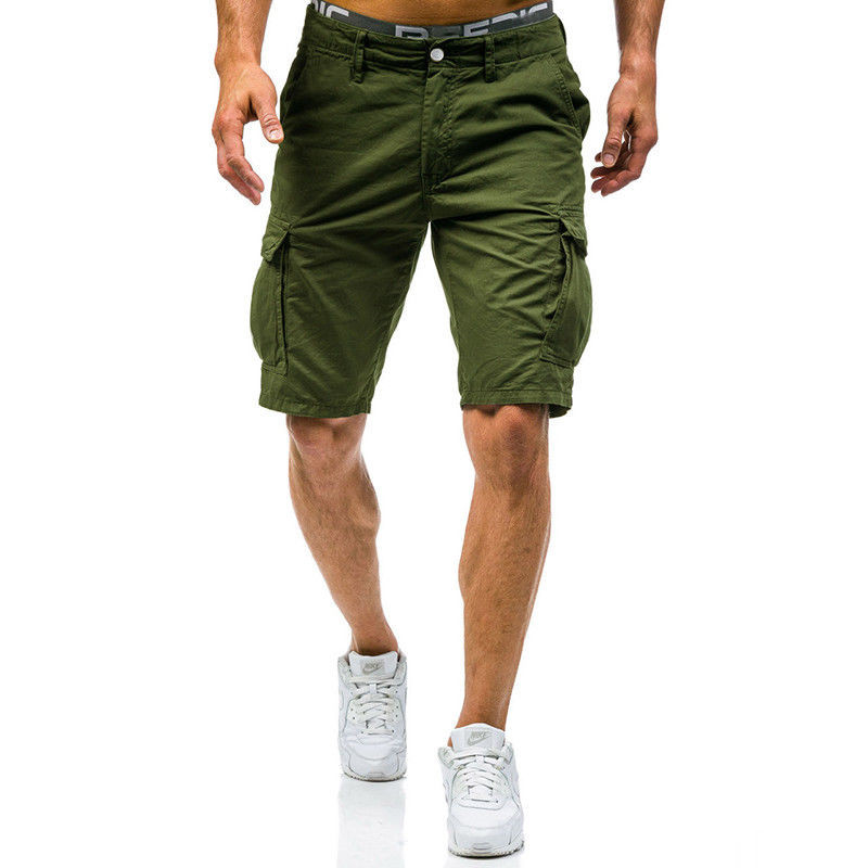 Mens Military Cargo Shorts 2018 Brand New Black Arm Tactical Shorts Men Cotton Loose Work Casual Short Pants Plus Free Shipping