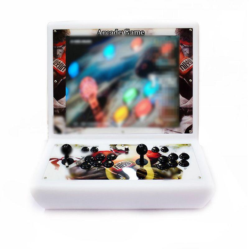 Framboesa Pi 3B + 19 Polegada Arcade Console Recalbox 14 K Jogos Instalados 4:3 Tela LCD Máquina De Arcade para 2 jogador Capsuladas