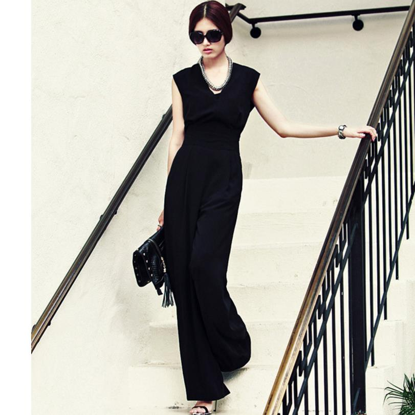 Deep V Neck Jumpsuit Women Bodycon Bodysuits Sleeveless Jumpsuit plus size 4xl