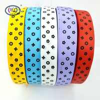 """HL 1""""(25mm) 5 Meters/lot Printed Flower Grosgrain Ribbons Wedding Party Decorative Gift Wrapping DIY Chilren Hair Accessories"""