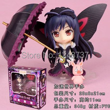 Free Shipping Cute 4″ Nendoroid Accel World Kuroyukihime PVC Action Figure, Collection dolls, toys for kids