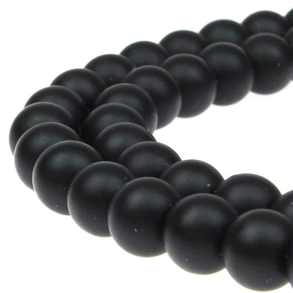 4-12mm naturalne czarne kamienne koraliki okrągłe matowe czarne koraliki matowy połysk Onyx karneol kamień koraliki do tworzenia biżuterii z kamienia naturalnego