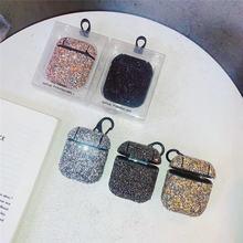 Роскошный чехол с бриллиантами Женский для airpods брелком антипадение