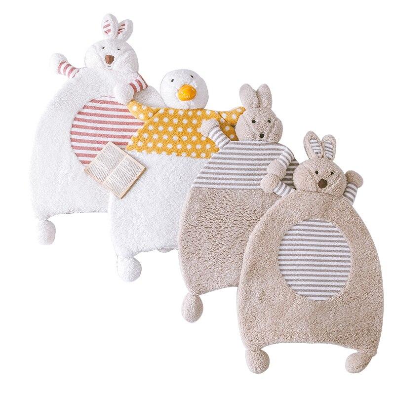 WINLIFE Cartoon Rabbit Soft Carpets Baby Crawling Rugs Kids Room Mats Lovely Animals Warm Carpets Anti-Skid Bedroom Carpets