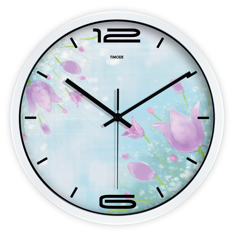 modern design wall clock flower frame for kids rooms montre murale wandklok hours in room wall. Black Bedroom Furniture Sets. Home Design Ideas
