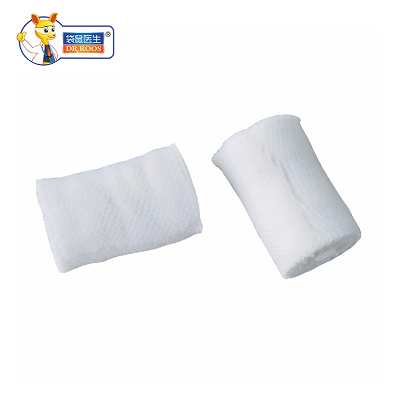 DR.ROOS 8cmx600cm 2 Rolls Medical Cotton Gauze Bandage Roll First Aid Bandage For Wound Hemostasis