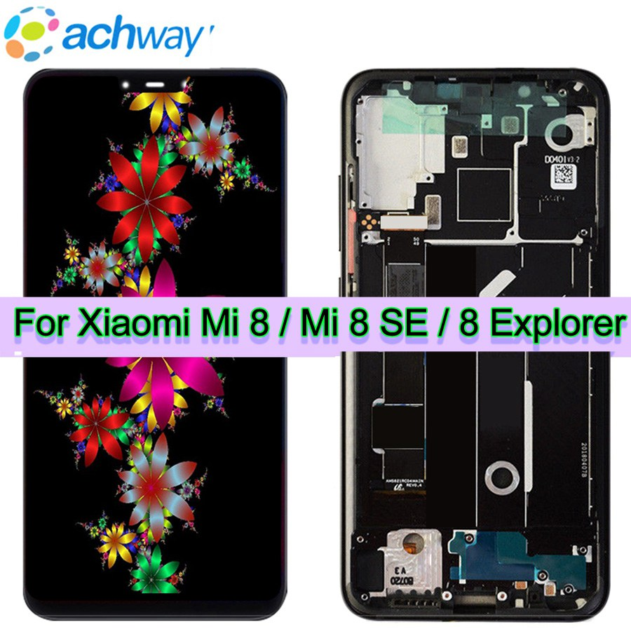 Amoled Bildschirm Xiao mi mi 8 LCD mi 8 Explorer Display Digitizer Montage Touchscreen Ersatz 6,21