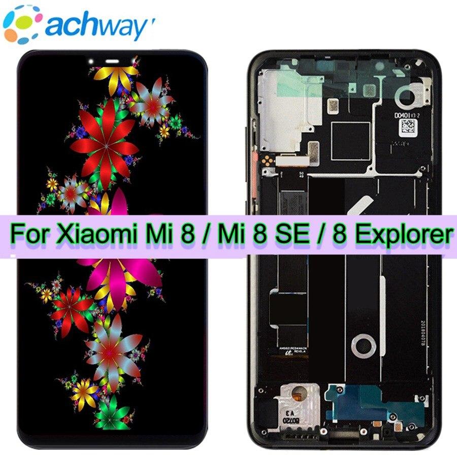 Amoled экран Xiaomi Mi 8 ЖК-дисплей Mi 8 Explorer дисплей дигитайзер сборка сенсорный экран Замена 6,21 Xiaomi Mi 8 ЖК-дисплей Mi 8 SE ЖК-дисплей