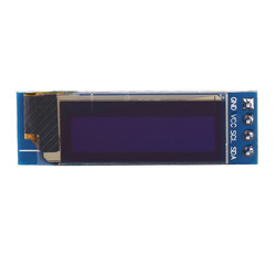 Module d'affichage de caractères couleur bleue I2C 0.91 pouces 128x32, affichage optoélectronique clair de haute qualité