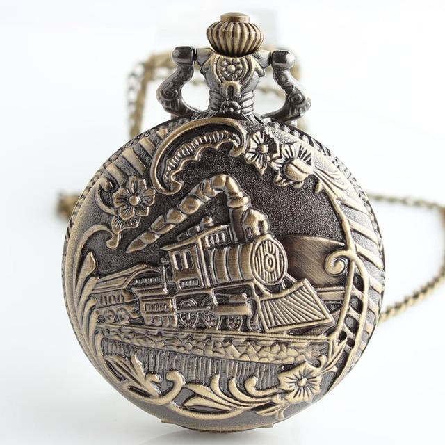 Jewelry Necklace Train Pocket Watch Vintage Pocket Watches Men Women Watch Chain