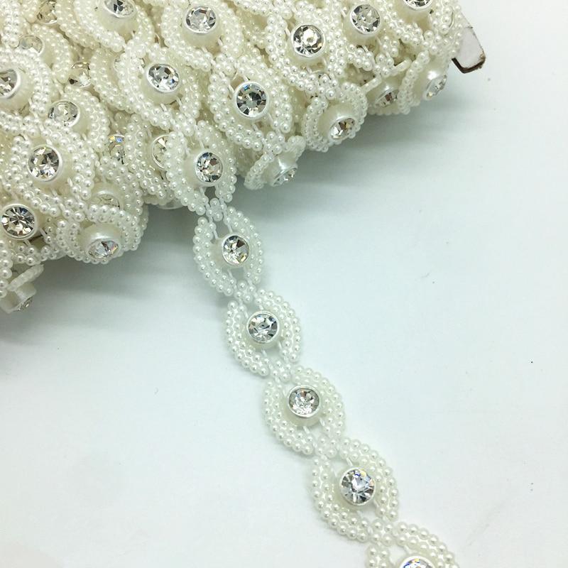 1 ярдов 12 мм страз цепи жемчуг кристалл цепи пришить планки свадебное платье костюм с аппликацией # ZuL13-in Стразы from Дом и сад on Aliexpress.com | Alibaba Group