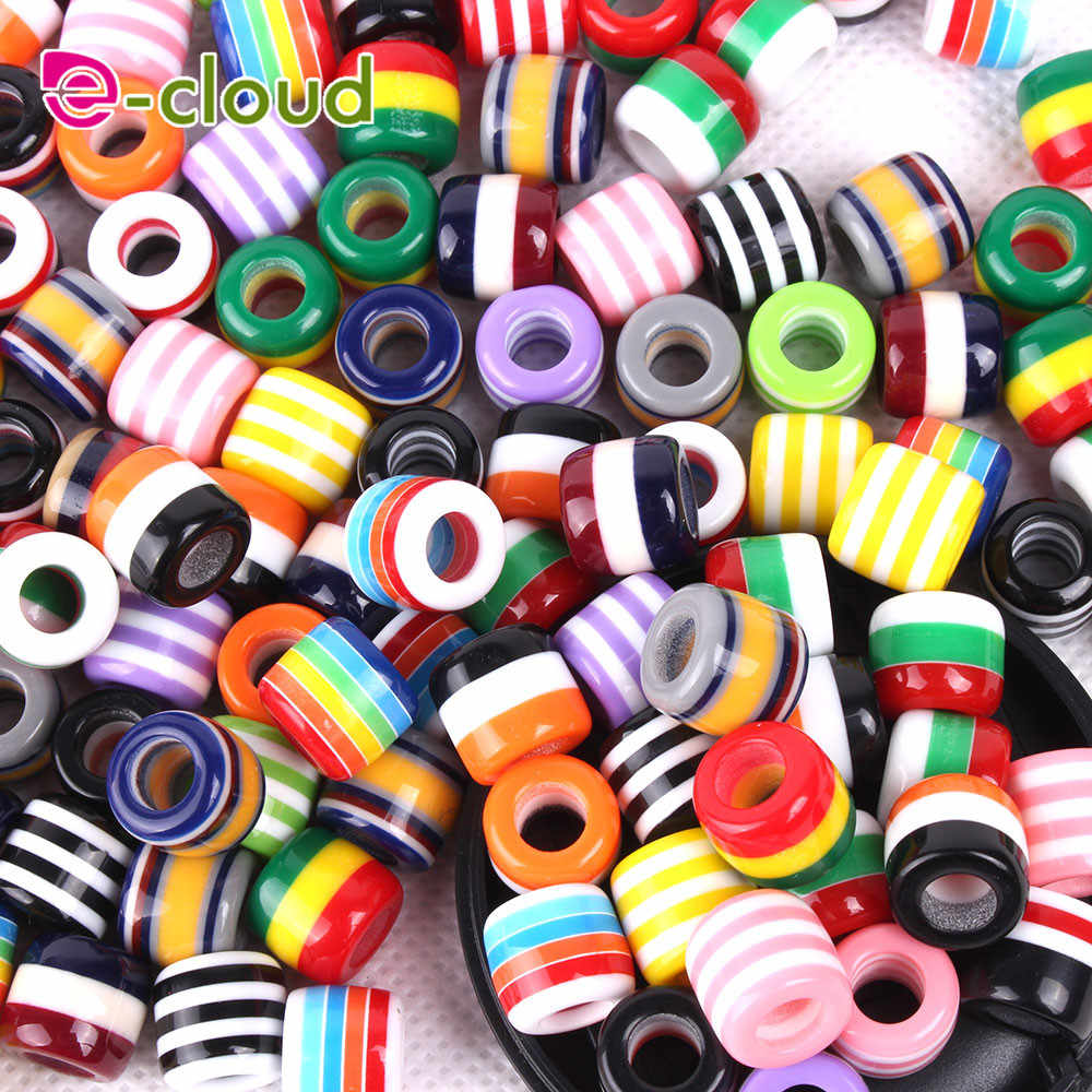 50 Pz/lotto multicolore capelli Perline e Perle dreadlock polsini clip circa 6mm foro per trecce di capelli dreadlock Accessori