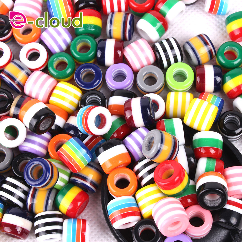 50Pcs/Lot multi coloured hair Beads and dreadlock Beads cuffs clips approx 6mm hole for hair braids dreadlock Accessories гидроаккумулятор вихрь га 50