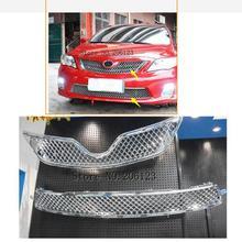 Автомобильный Стайлинг для Toyota Corolla Altis 20112012 2013 Высокое качество ABS Хромированная передняя решетка Вокруг отделки гоночные грили отделка