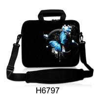 Blue Butterfly Laptop Shoulder Bag Messager Carry Case For 11 13 13 3 15 15 4