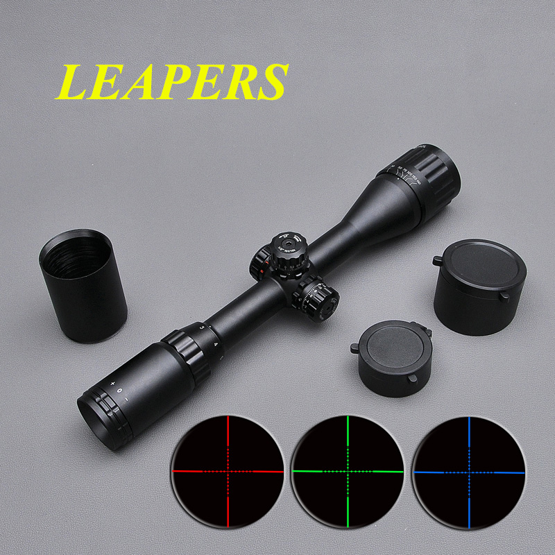 LEAPERS 3-9X40 Riflescope Tactical Optical Rifle Scope Red Green And Blue Dot Sight Illuminated Retical Sight For Hunting Scope оптика leapers
