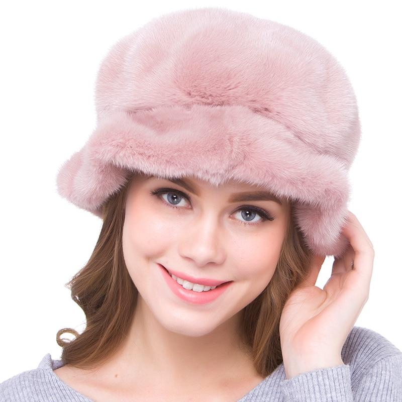 JKP новые зимние вся норки меховая шапка для женщин классический русский стиль 2018 шкуры животных натуральный мех колпачок DHY18 09