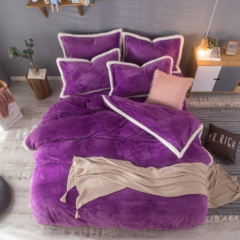 Aliexpress.com : Buy Fleece Fabric Velvet Bedding Sets Foft BedSet 4 pcs Bedclothes Winter Bed