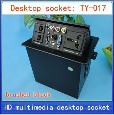 Desktop socket / hidden multimedia information box outlet / HD HDMI network RJ45 video Audio USB VGA MIC desktop socket TY-017 цена 2017