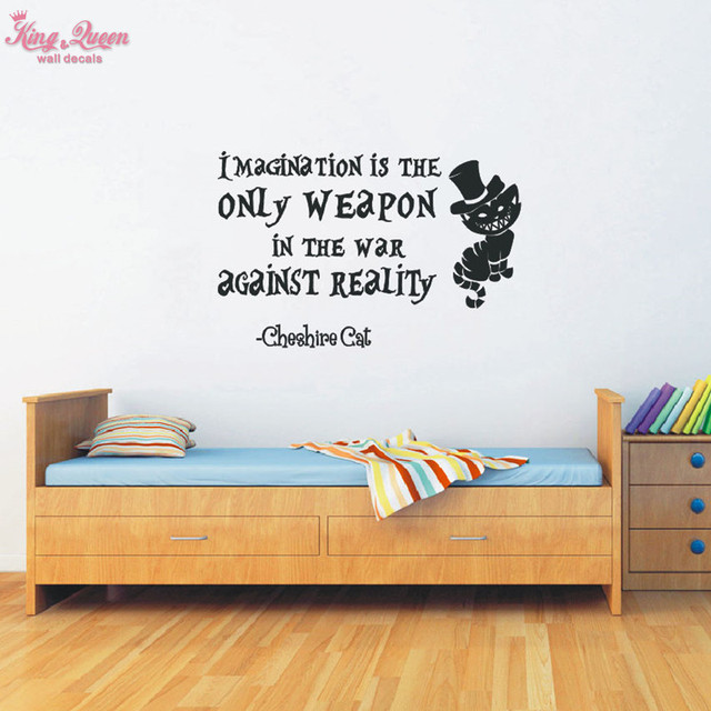 Imagination Is The Only Weapon Sayings Quote Wall Sticker Vinyl ...