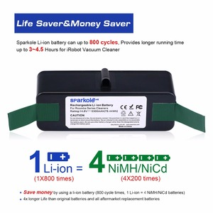 Image 2 - Sparkole 5300mAh 14.8V Li ion Battery for iRobot Roomba 500 600 700 800 900 Series 550 560 580 620 630 650 770 780 870 880 980